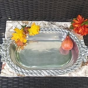 Beautiful silver tone kitchen tray.